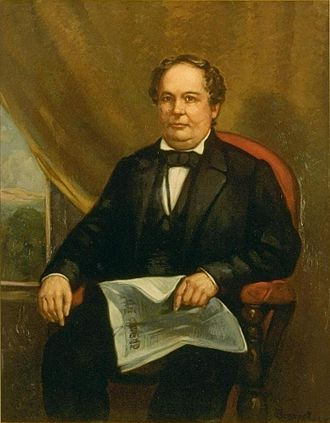 John Bigler - Portrait of Bigler by William F. Cogswell