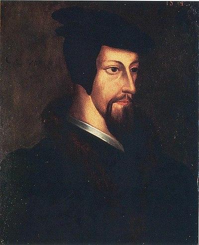 Retrato del joven Calvino.