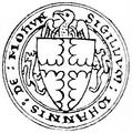 John III de Mohun (1269-1330) Seal BaronsLetter 1301.png