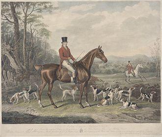 John Mytton - John Mytton, Esquire, Halston, Salop, by William Giller after William Webb, 1841