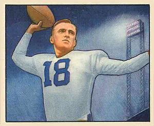 John Rauch - Rauch on 1950 Bowman football card