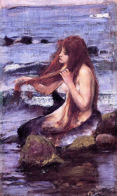 John William Waterhouse - A Mermaid (1892 sketch).jpg