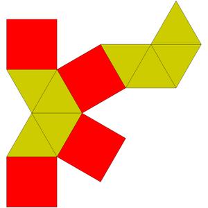 Elongated square bipyramid - Image: Johnson solid 15 net