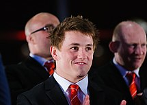 Jonathan Davies. Wales Grand Slam Celebration, Senedd 19 March 2012.jpg