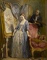 Jonge kunstenares in mijmering, Gustave Wappers, 1857, Koninklijk Museum voor Schone Kunsten Antwerpen, 1187.jpg