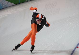 Netherlands at the 2010 Winter Olympics - Jorien Voorhuis during her 5,000 m