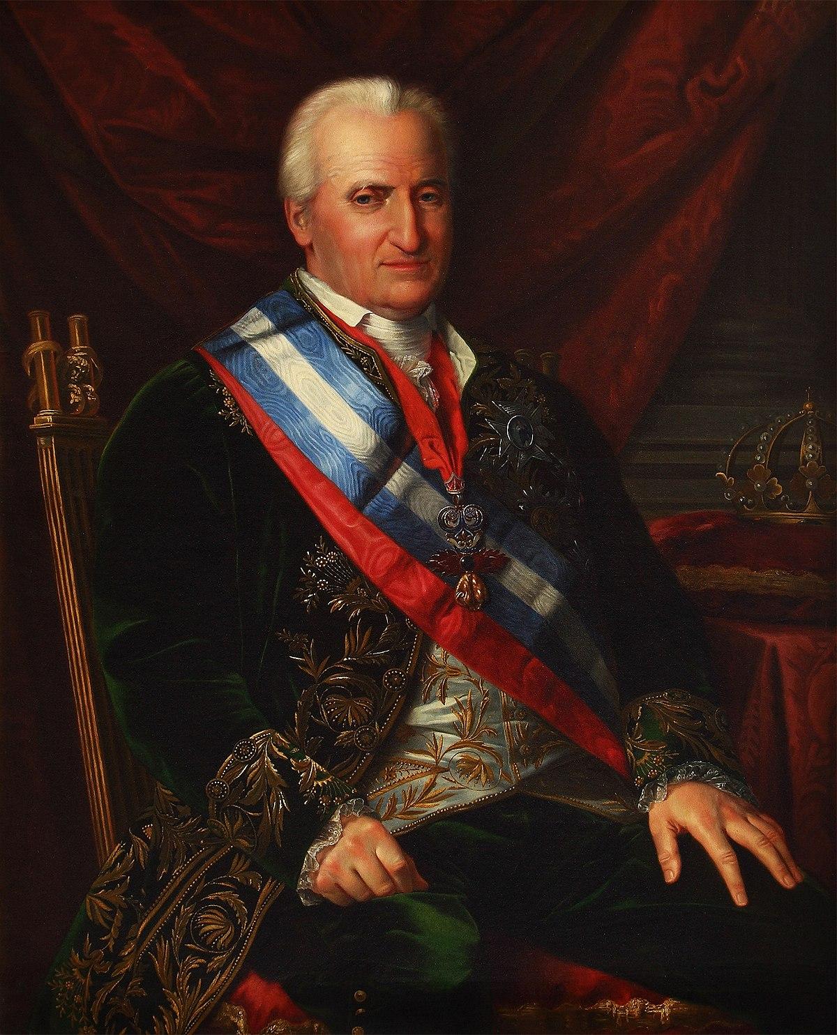 José de Madrazo - Carlos IV (Palacio Real de Aranjuez, c. 1825. Óleo sobre lienzo, 115 x 93 cm).jpg