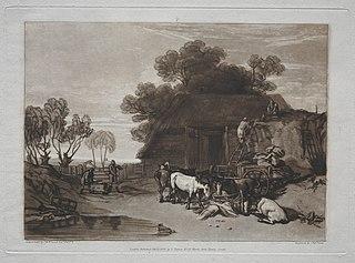 Liber Studiorum:  The Straw Yard
