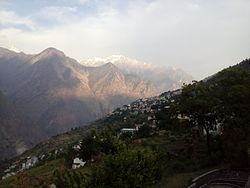 View of Joshimath from Narsingh Temple