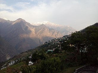 Jyotirmath - View of Joshimath from Narsingh Temple