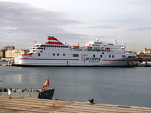 IBEX 35 - Passenger ferry operated by Acciona Trasmediterránea in Tenerife