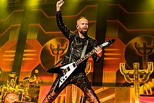 Andy Sneap playing with Judas Priest in 2018
