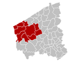 Judicial Arrondissement Veurne Belgium Map.PNG