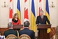 Julie Payette with Petro Poroshenko in Ukraine - 2018 - (1516277010b).jpg
