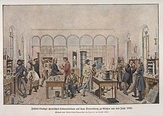 Justus von Liebig - Liebig's Laboratory at Giessen, by Wilhelm Trautschold