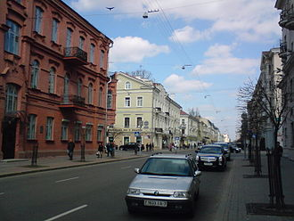 Minsk - A street in central Minsk