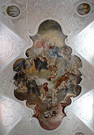 Franz Joseph Spiegler - Ceiling fresco depicting St. Augustine's reception into heaven from the Augustinian Church of the Holy Trinity in Konstanz