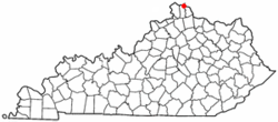 Location of Woodlawn, Kentucky