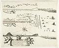 Kaart van de aanleg van de straatweg van Den Haag naar Scheveningen, 1664-1665 (derde blad) Caerte van de straet wegh soo die gemaeckt is van Den Hage tot aen 't zee strang, RP-P-2016-1904.jpg