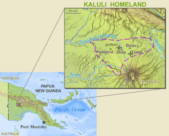 Kaluli people - Map of the Kaluli's territory