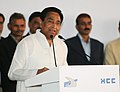 Kamal Nath addressing at the inaugural ceremony of 6-lane Elevated Highway at Badarpur from Km 16.100 to Km 20.500 on NH-2 on BOT (Toll) basis in Delhi and Haryana, in New Delhi on November 29, 2010.jpg