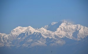 Kangchenjunga - Kangchenjunga early in the morning, viewed from Tiger Hill, Darjeeling, India