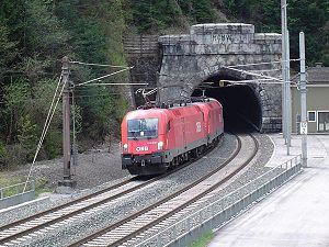 Karawanks Tunnel (railway) - The northern entrance to the tunnel