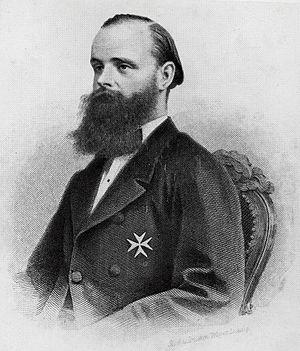 Karl Klaus von der Decken - Karl Klaus von der Decken with Medal of the Order of Saint John