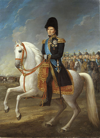 Monarchy of Sweden - Crown Prince Charles John at the Battle of Leipzig (1813). Painting by Fredric Westin.
