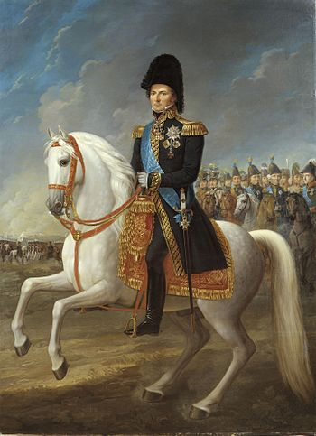 Charles John, born Jean Bernadotte, King of Sweden and Norway 1818-1844 Portrait by Fredric Westin. Karl XIV Johan, king of Sweden and Norway, painted by Fredric Westin.jpg
