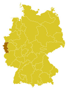 Map of the Diocese of Aachen