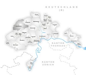 Schleitheim - Image: Karte Gemeinde Schleitheim