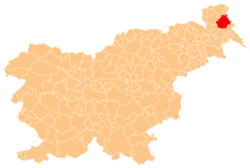 Location of the Municipality of Moravske Toplice in Slovenia