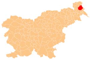 Municipality of Moravske Toplice - Image: Karte Moravske Toplice si