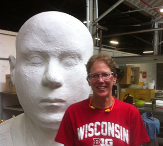Kate Borcherding - Kate Borcherding as Artist-in-residence studio. Kohler Foundry, Village of Kohler, WI