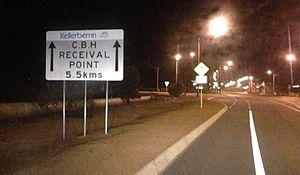 Kellerberrin, Western Australia - Image: Kellerberin grain receival point sign