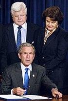 Kennedy Feinstein Bush signing