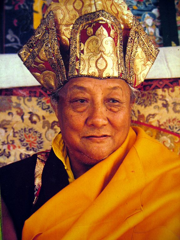Dilgo Khyentse in regalia