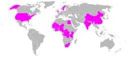 Los países en violeta representan las naciones con pasajeros en el avión.