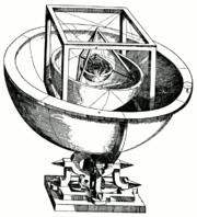 Le modèle d'Univers de Kepler, fondé sur les cinq polyèdres réguliers.