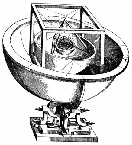 «Кубок Кеплера»: модель Солнечной системы из пяти платоновых тел.
