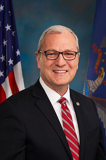 North Dakota Senator Kevin Cramer (R) Kevin Cramer, official portrait, 116th congress.jpg