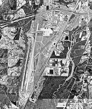 Meridian Regional Airport - USGS 1996 orthophoto