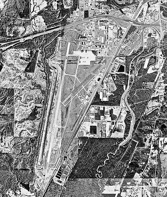 Meridian Regional Airport - USGS 1996 orthophoto