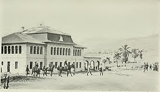 Tabora Offensive - Brigade Sud at the railway station of Kigoma, August 1916.