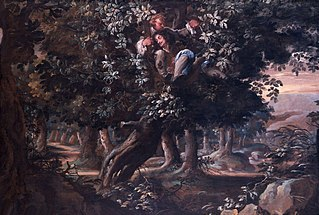 King Charles II and Colonel William Carlos (Careless) in the Royal Oak