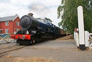 GWR 6000 Class 6023 King Edward II - GWR No.6023 King Edward II at Yaxham Crossing