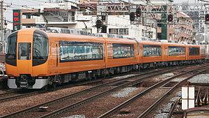 Kintetsu 22600 series - 22600 series formation at Tsuruhashi Station, April 2009