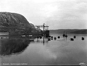 Sydvaranger - The ore-exporting docks in 1928