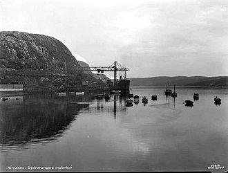 Sydvaranger - The ore-exporting docks in 1928